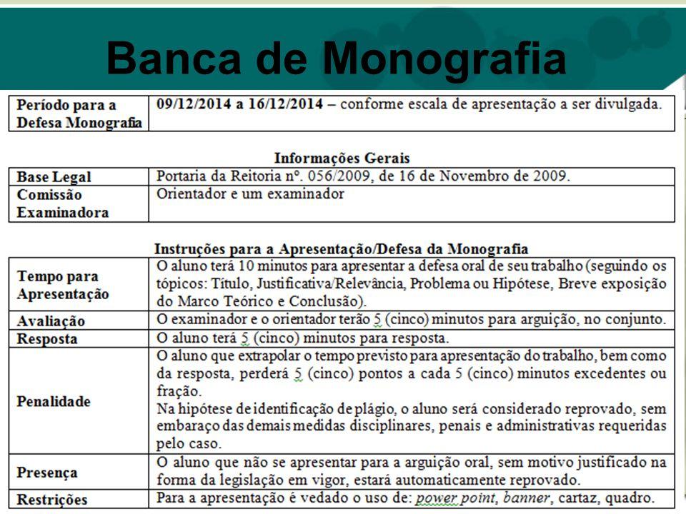 Banca de Monografia