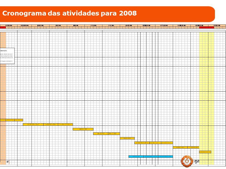24 Cronograma das atividades para 2008