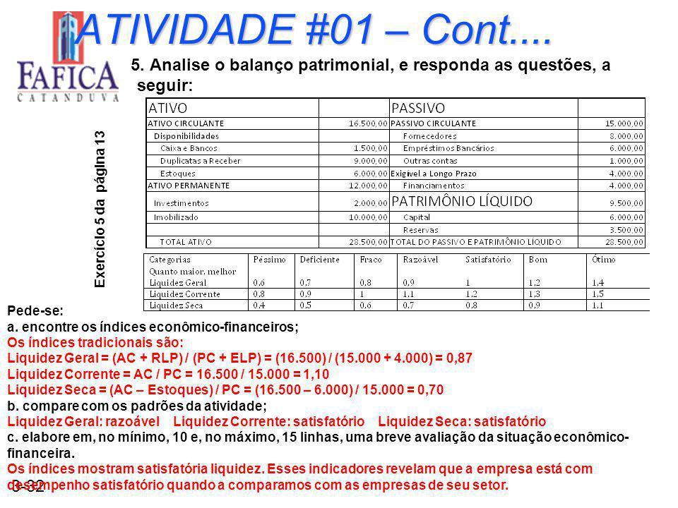 3-32 ATIVIDADE #01 – Cont....5.