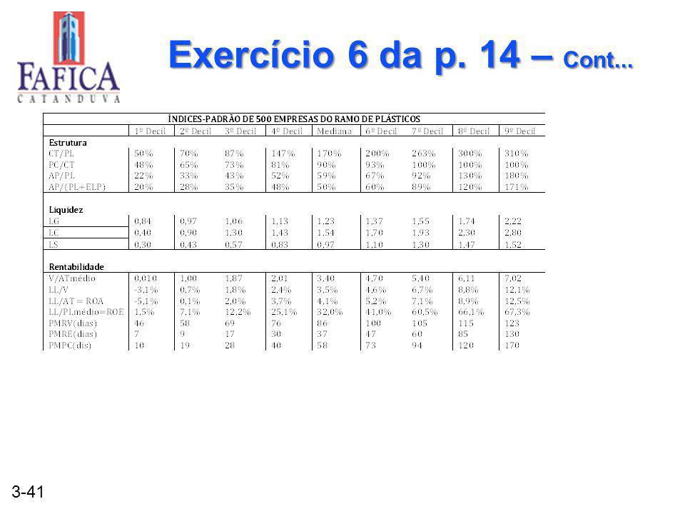 3-41 Exercício 6 da p. 14 – Cont...