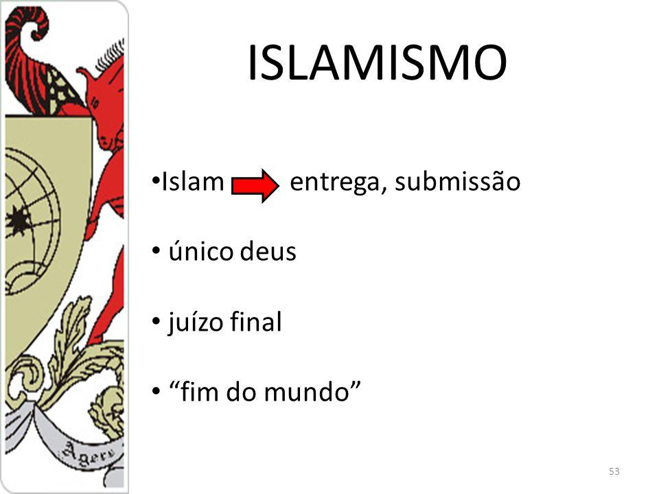 ISLAMISMO 53 Islam entrega, submissão único deus juízo final fim do mundo