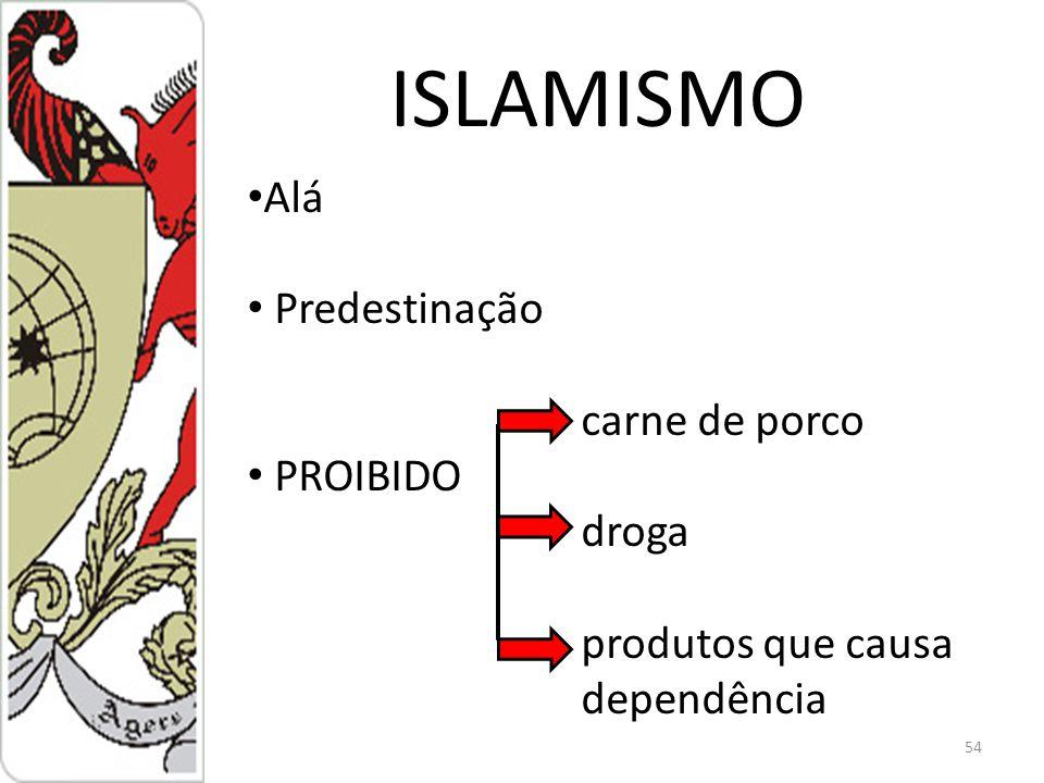 ISLAMISMO 54 Alá Predestinação carne de porco PROIBIDO droga produtos que causa dependência