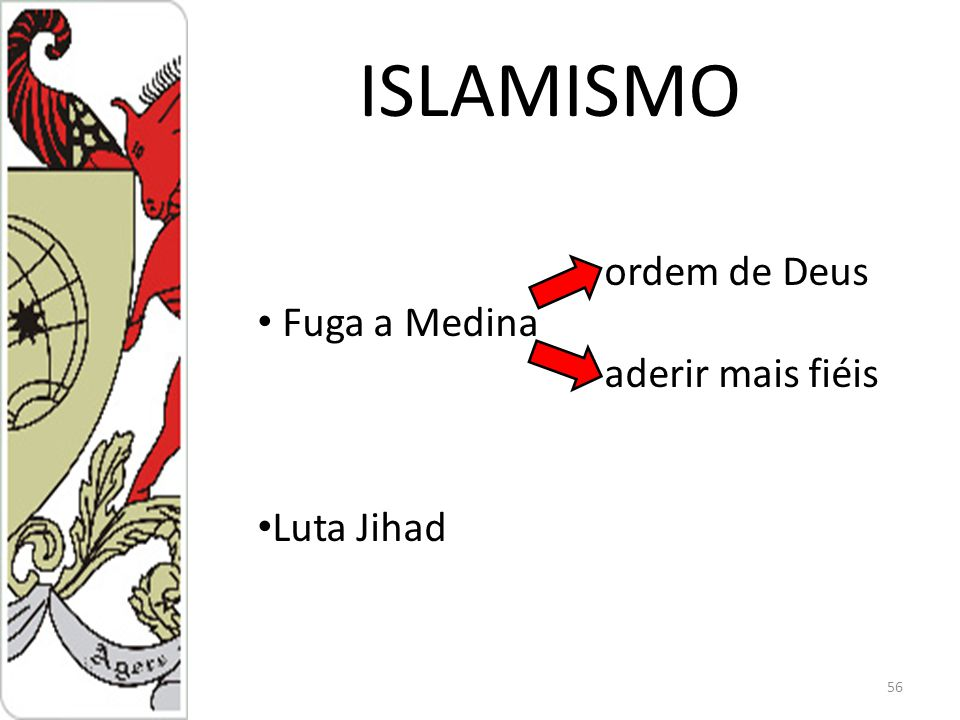 ISLAMISMO 56 ordem de Deus Fuga a Medina aderir mais fiéis Luta Jihad
