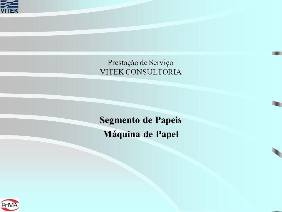 Prestação de Serviço VITEK CONSULTORIA Segmento de Papeis Máquina de Papel