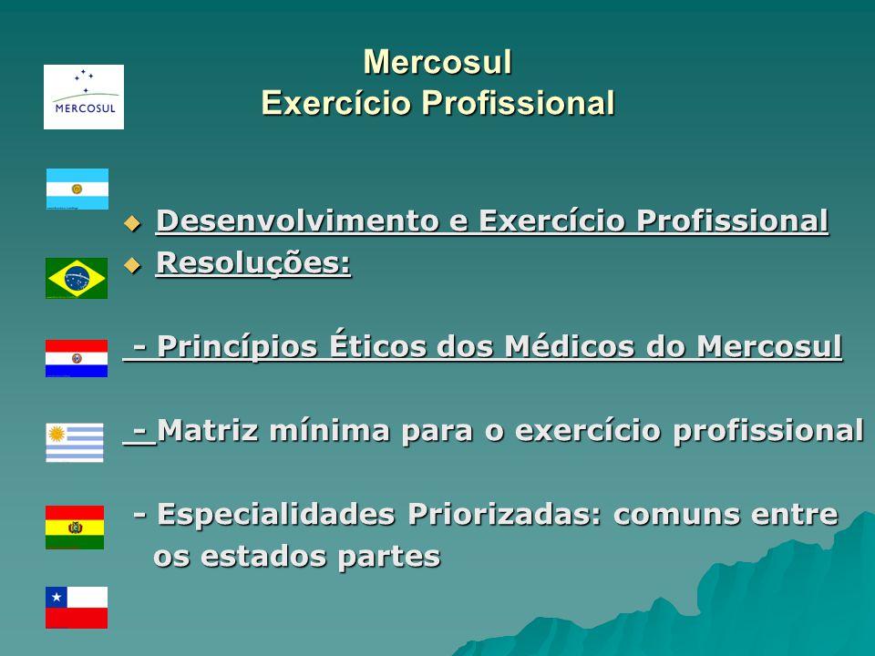 Mercosul Exercício Profissional Desenvolvimento e Exercício Profissional Desenvolvimento e Exercício Profissional Resoluções: Resoluções: - Princípios