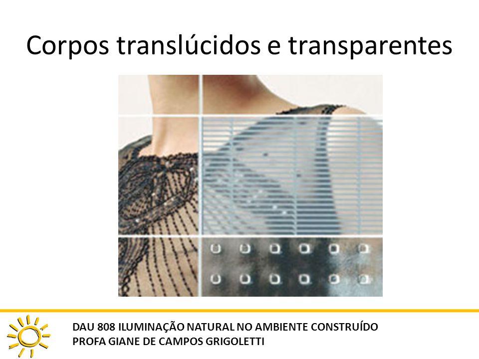 Corpos translúcidos e transparentes DAU 808 ILUMINAÇÃO NATURAL NO AMBIENTE CONSTRUÍDO PROFA GIANE DE CAMPOS GRIGOLETTI