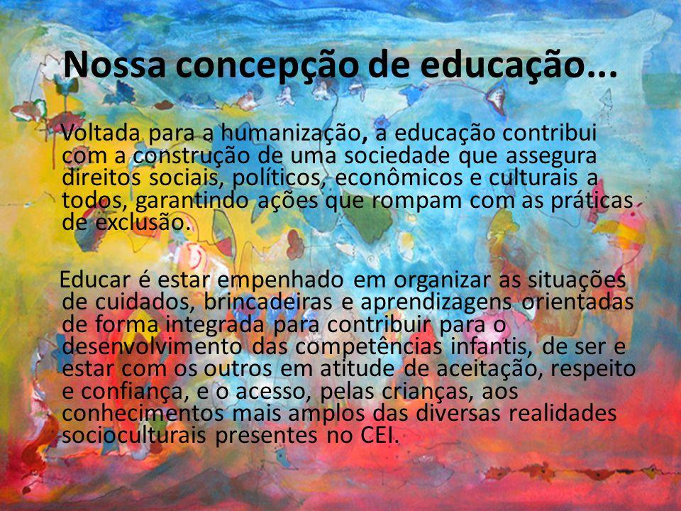Nossa concepção de educação...