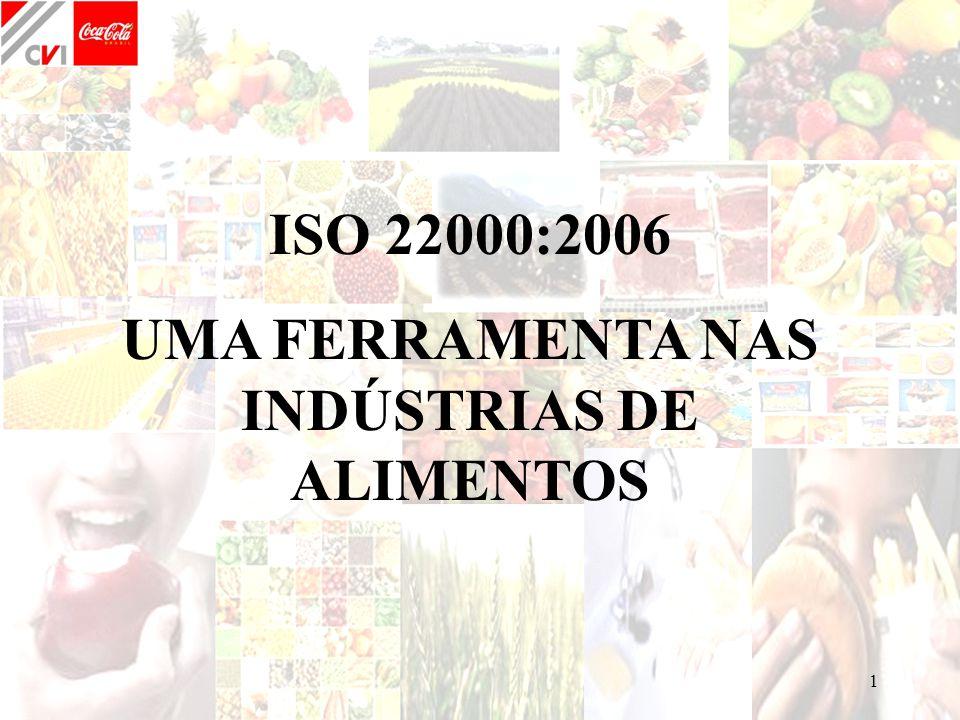 1 ISO 22000:2006 UMA FERRAMENTA NAS INDÚSTRIAS DE ALIMENTOS