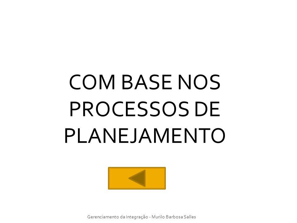 Gerenciamento da Integração - Murilo Barbosa Salles COM BASE NOS PROCESSOS DE PLANEJAMENTO