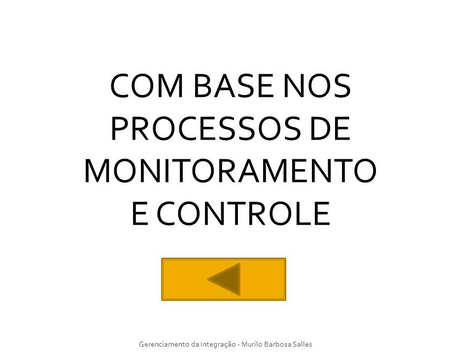 Gerenciamento da Integração - Murilo Barbosa Salles COM BASE NOS PROCESSOS DE MONITORAMENTO E CONTROLE