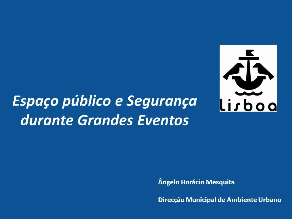 Espaço público e Segurança durante Grandes Eventos Ângelo Horácio Mesquita Direcção Municipal de Ambiente Urbano