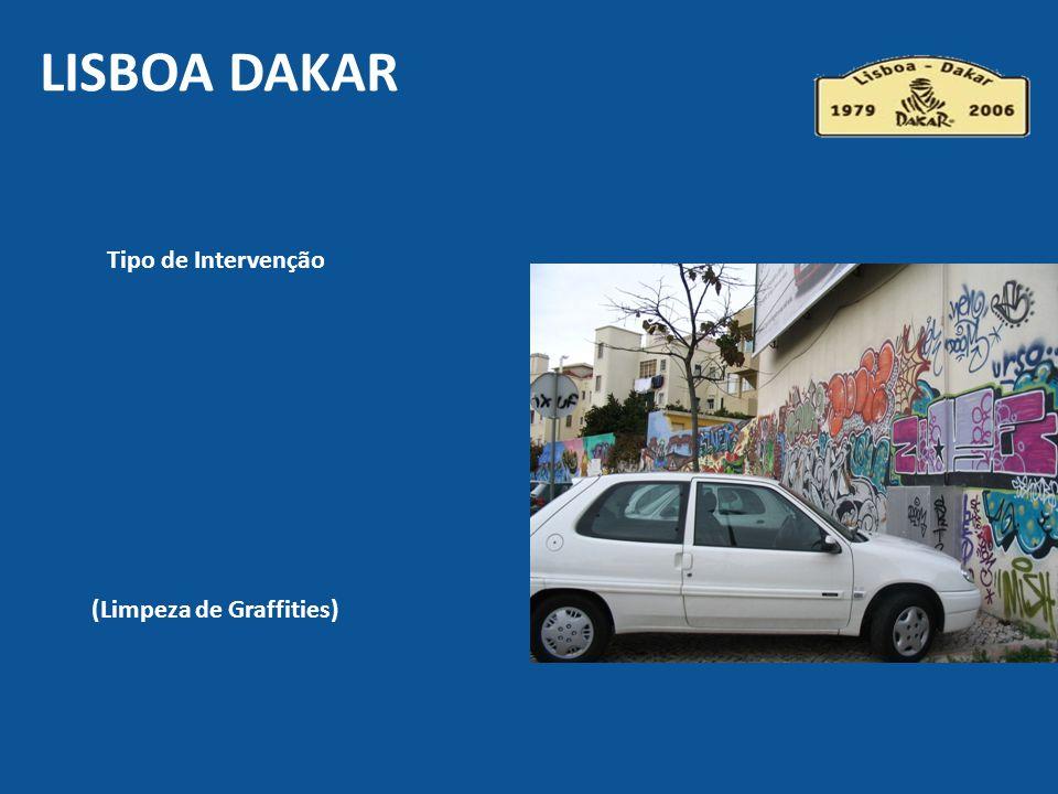 Tipo de Intervenção (Limpeza de Graffities) LISBOA DAKAR