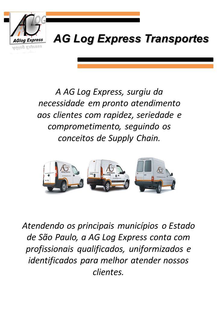 A AG Log Express, surgiu da necessidade em pronto atendimento aos clientes com rapidez, seriedade e comprometimento, seguindo os conceitos de Supply C