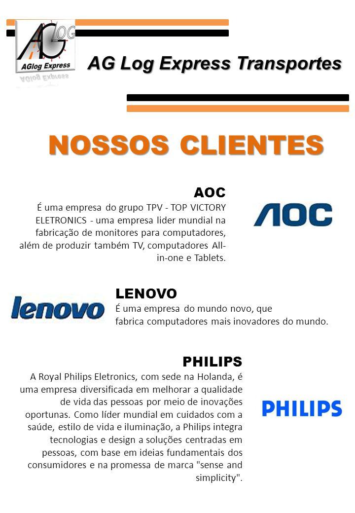 NOSSOS CLIENTES AOC É uma empresa do grupo TPV - TOP VICTORY ELETRONICS - uma empresa lider mundial na fabricação de monitores para computadores, além