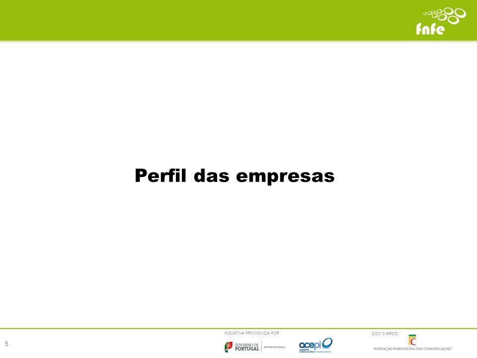 INICIATIVA PROMOVIDA POR COM O APOIO: Perfil das empresas 5