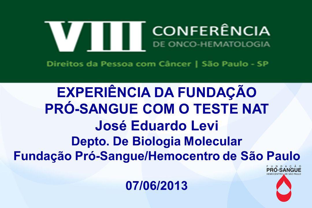 HIV transfusion transmission despite NAT testing Nanci Salles, José E.