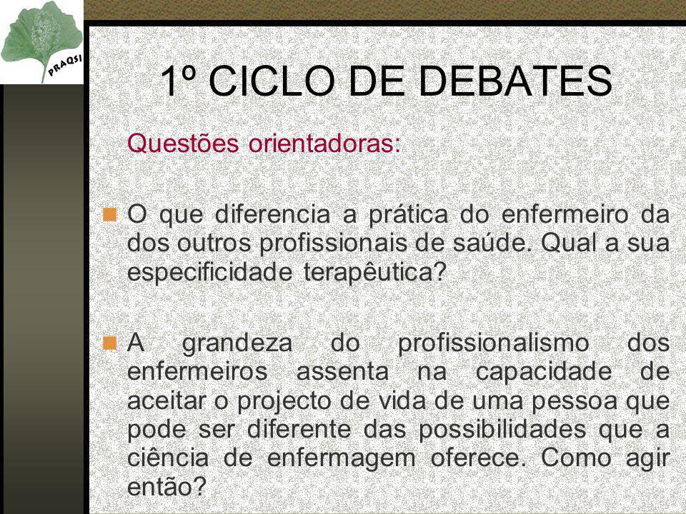 Questões orientadoras: O que diferencia a prática do enfermeiro da dos outros profissionais de saúde.
