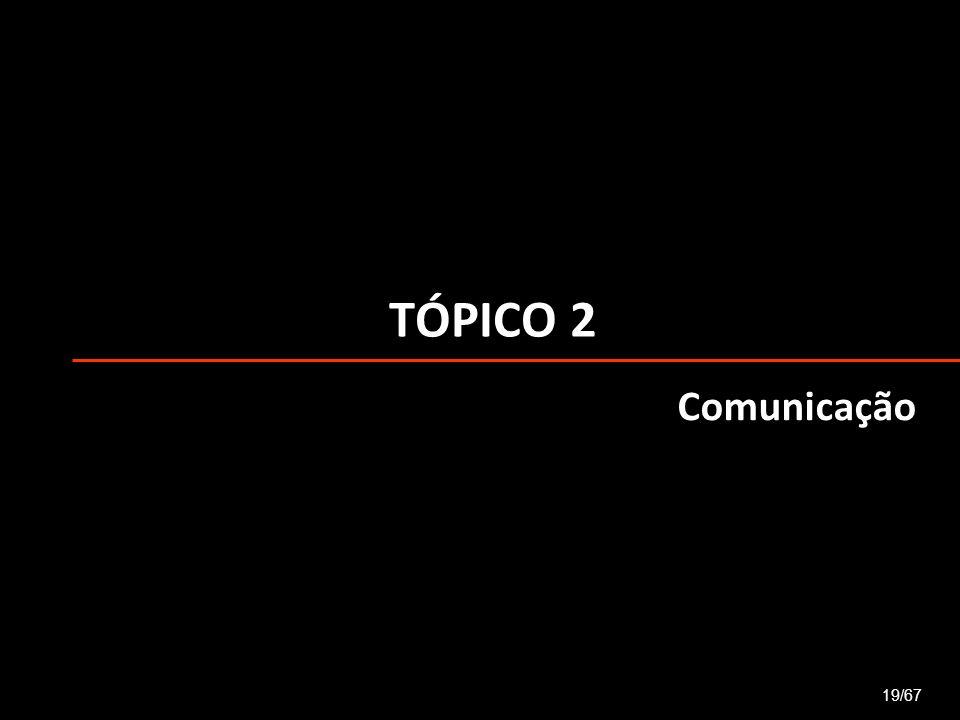 TÓPICO 2 19/67 Comunicação