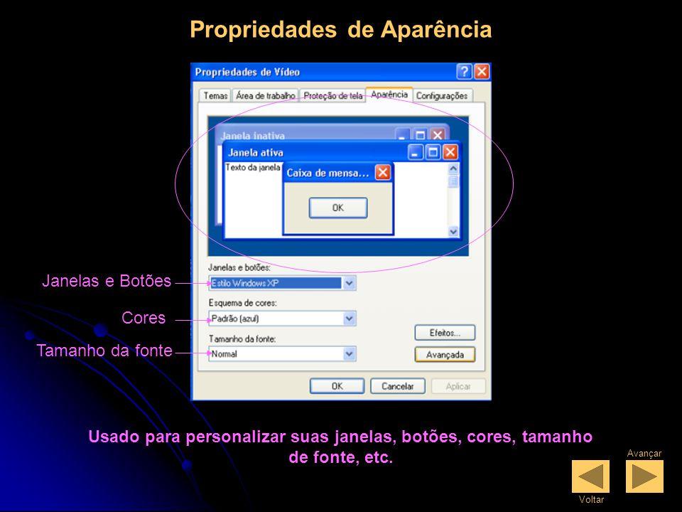 Proteção de Tela Seleciona ProteçãoConfigurações Configurações de Energia Usado para alterar a proteção de tela, selecione texto 3D para personalizar o texto a ser exibido na proteção de tela.
