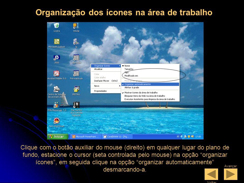 Ícones = Conhecidos também como atalhos porquê dão acesso a um determinado programa ou a uma determinada pasta, enfim, os ícones podem ser programados para servir como atalho para qualquer finalidade.