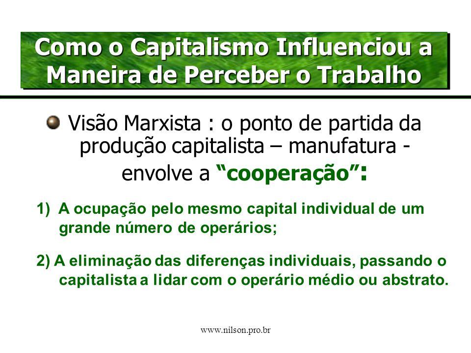www.nilson.pro.br A 1ª. REVOLUÇÃO INDUSTRIAL UMA VISÃO MARXISTA DO SURGIMENTO DO CAPITALISMO OS PRIMÓRDIOS