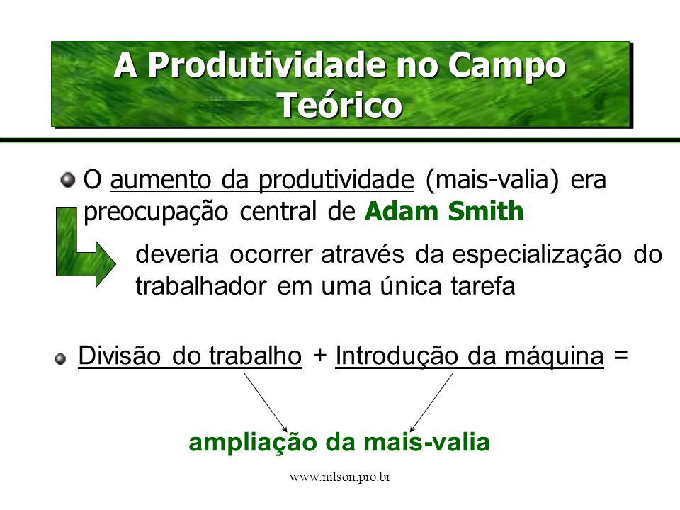 www.nilson.pro.br E como lucra o capitalista? A mais-valia é a forma de lucrar com a força de trabalho. Resulta de um excedente quantitativo de trabal