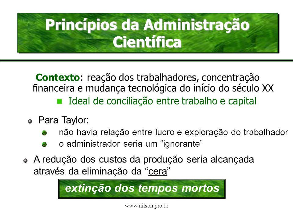 www.nilson.pro.br A EMERGÊNCIA DO TAYLORISMO-FORDISMO A 2ª. REVOLUÇÃO INDUSTRIAL