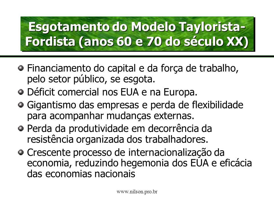 www.nilson.pro.br A CRISE DO PARADIGMA TAYLORISTA-FORDISTA Emergência de um paradigma flexivel? A 3ª. REVOLUÇÃO INDUSTRIAL