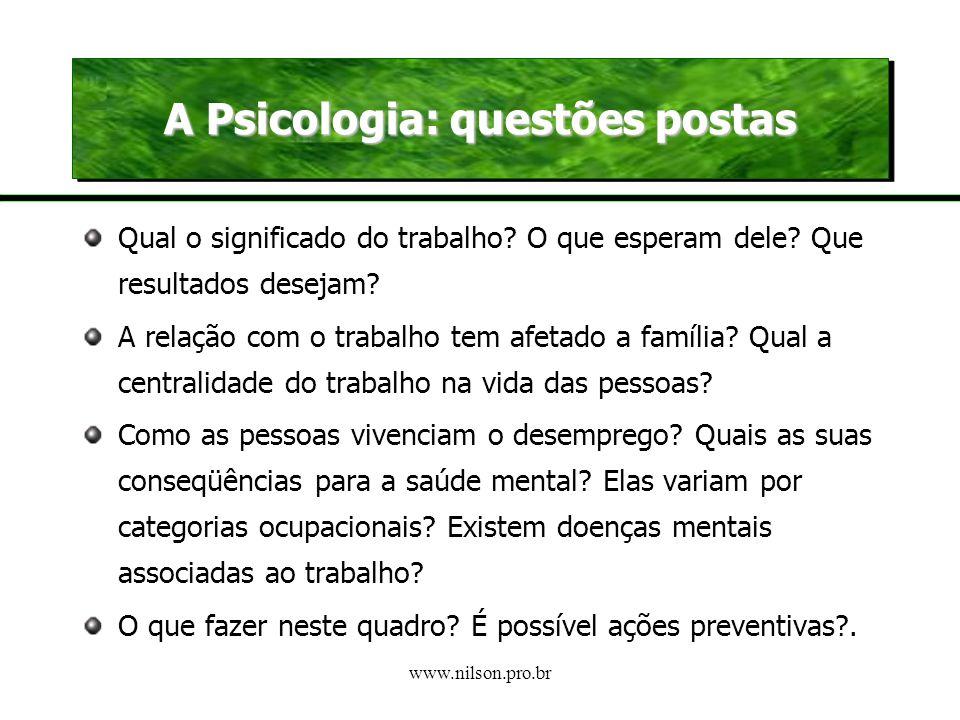 www.nilson.pro.br Uma revolução complexa engendrando duas formas críticas de conceber o trabalho O trabalho na forma de emprego diminui sua importânci