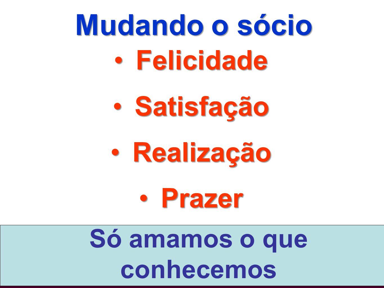 Felicidade Felicidade Satisfação Satisfação Realização Realização Prazer Prazer Júlio Lóssio Só amamos o que conhecemos Mudando o sócio