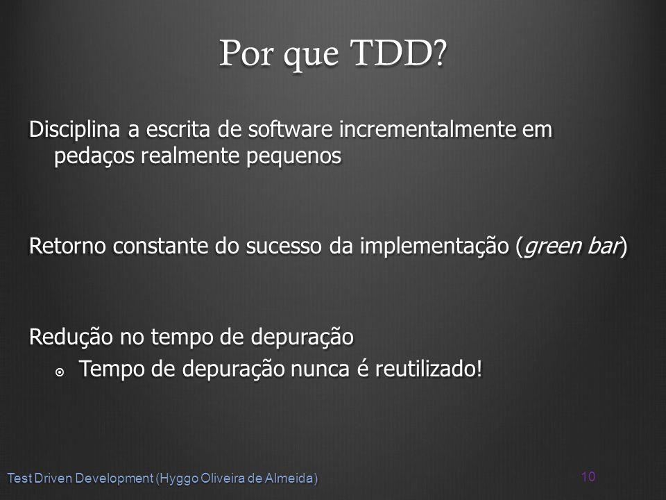 Por que TDD.