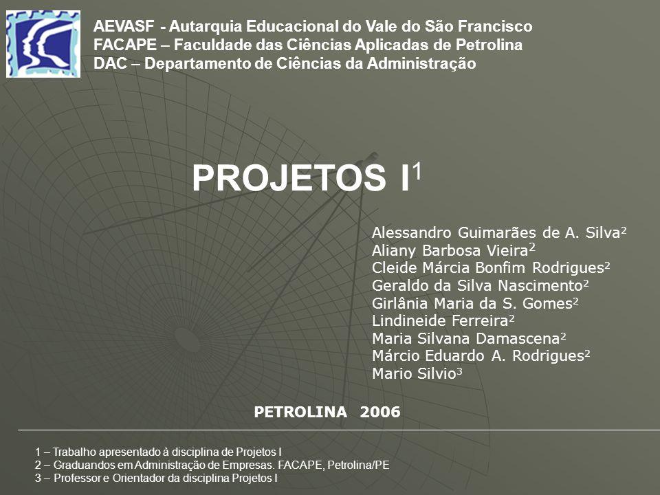 AEVASF - Autarquia Educacional do Vale do São Francisco FACAPE – Faculdade das Ciências Aplicadas de Petrolina DAC – Departamento de Ciências da Admin