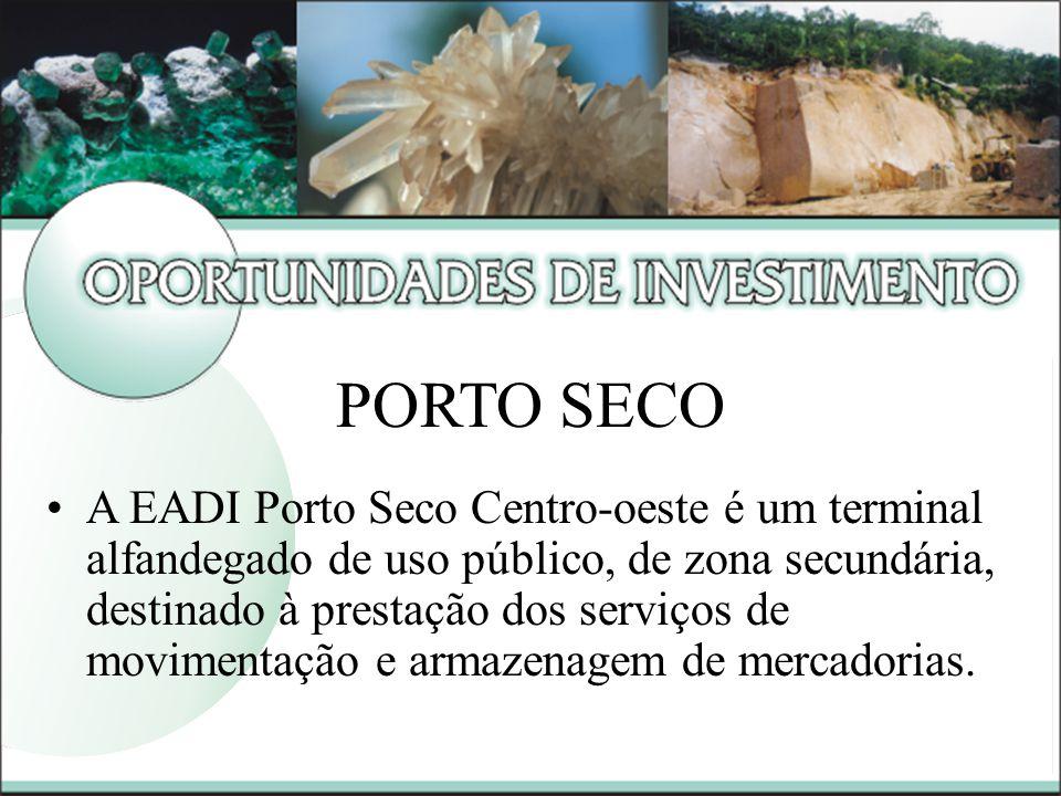 A EADI Porto Seco Centro-oeste é um terminal alfandegado de uso público, de zona secundária, destinado à prestação dos serviços de movimentação e armazenagem de mercadorias.