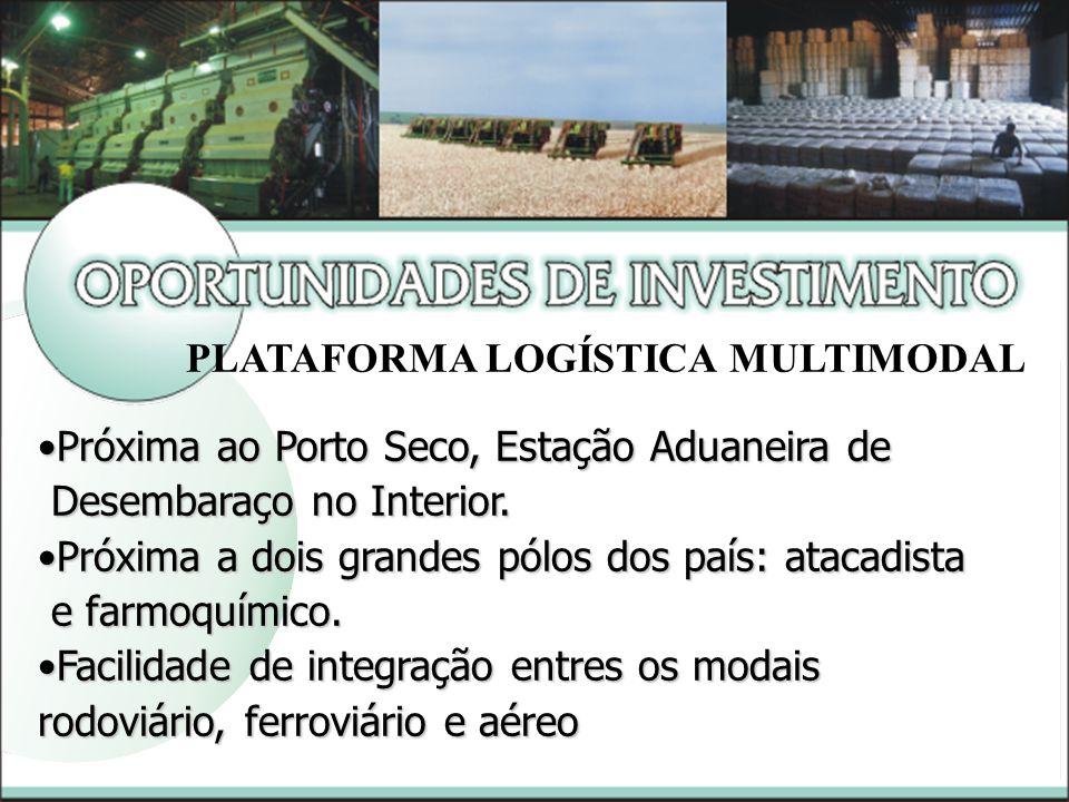 Próxima ao Porto Seco, Estação Aduaneira dePróxima ao Porto Seco, Estação Aduaneira de Desembaraço no Interior.