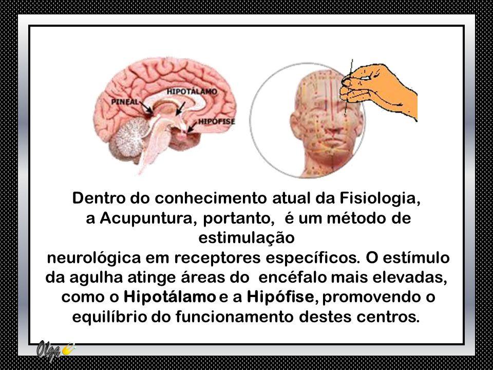 O estímulo de certos pontos provoca a liberação de Beta-endorfina, que afetando as vias neurológicas descendentes, terminam provocando um forte efeito