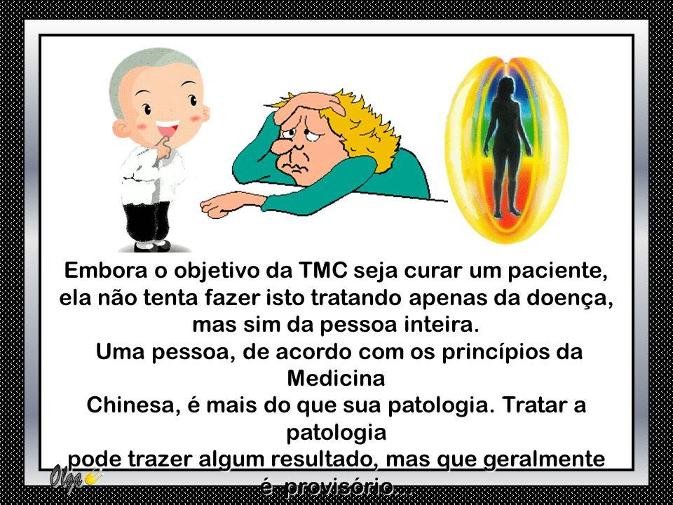 Embora o objetivo da TMC seja curar um paciente, ela não tenta fazer isto tratando apenas da doença, mas sim da pessoa inteira.