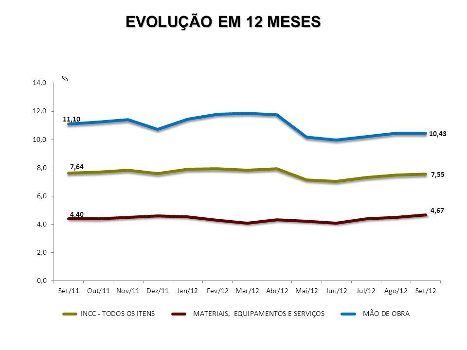 EVOLUÇÃO EM 12 MESES %