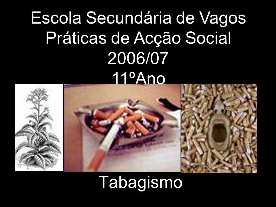 Tabagismo Escola Secundária de Vagos Práticas de Acção Social 2006/07 11ºAno