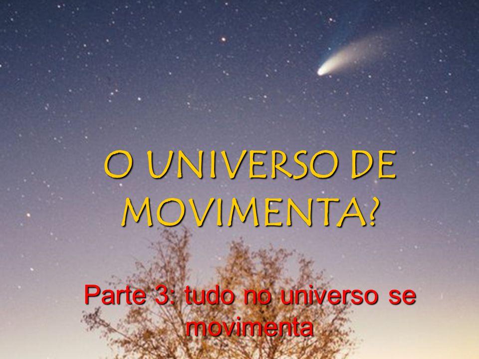 O UNIVERSO DE MOVIMENTA? Parte 3: tudo no universo se movimenta