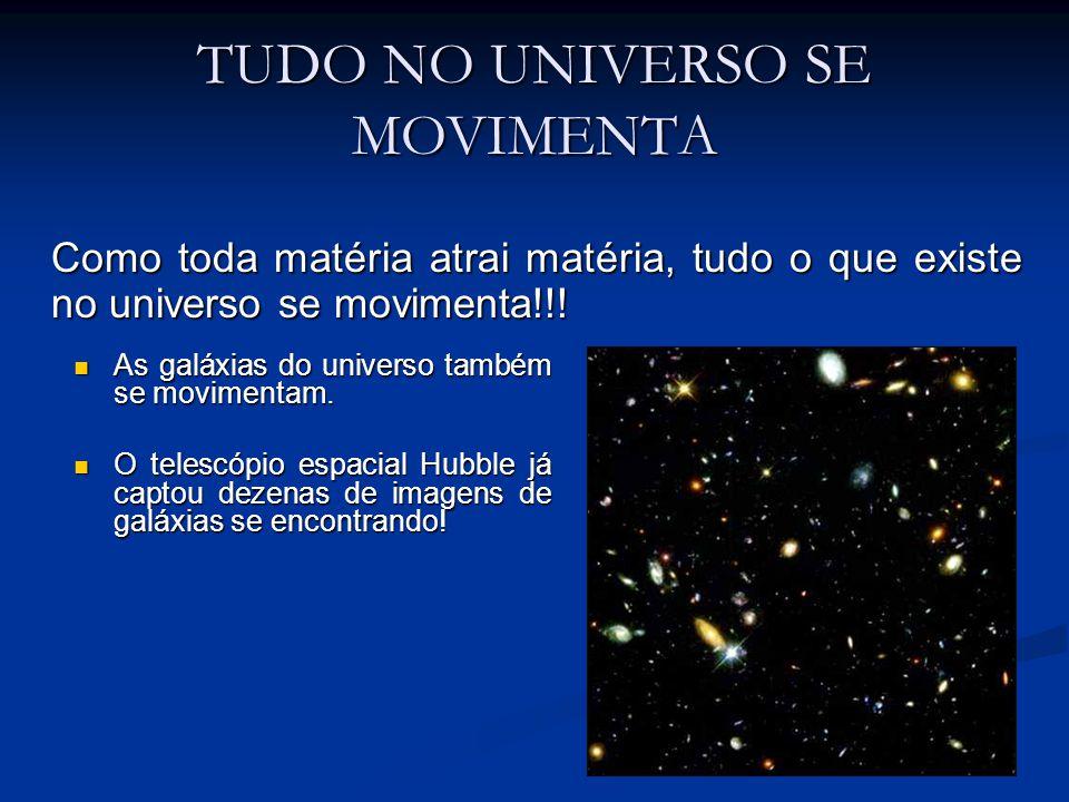 TUDO NO UNIVERSO SE MOVIMENTA As galáxias do universo também se movimentam. As galáxias do universo também se movimentam. O telescópio espacial Hubble