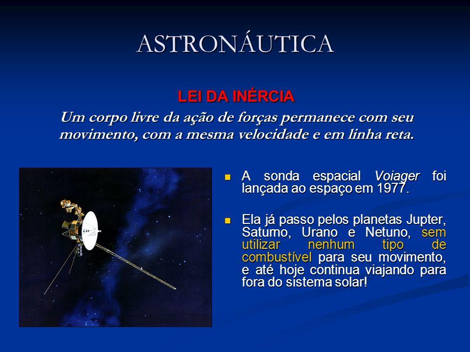 ASTRONÁUTICA A sonda espacial Voiager foi lançada ao espaço em 1977. A sonda espacial Voiager foi lançada ao espaço em 1977. Ela já passo pelos planet