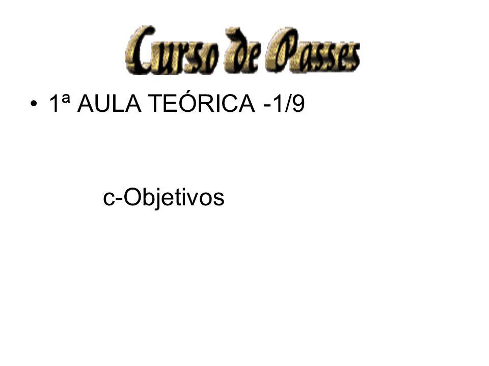 1ª AULA TEÓRICA -1/9 c-Objetivos