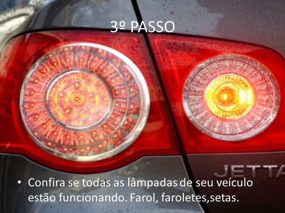 4º PASSO Confira as paletas do limpador do parabrisas, evitando também que o mesmo seja arranhado.