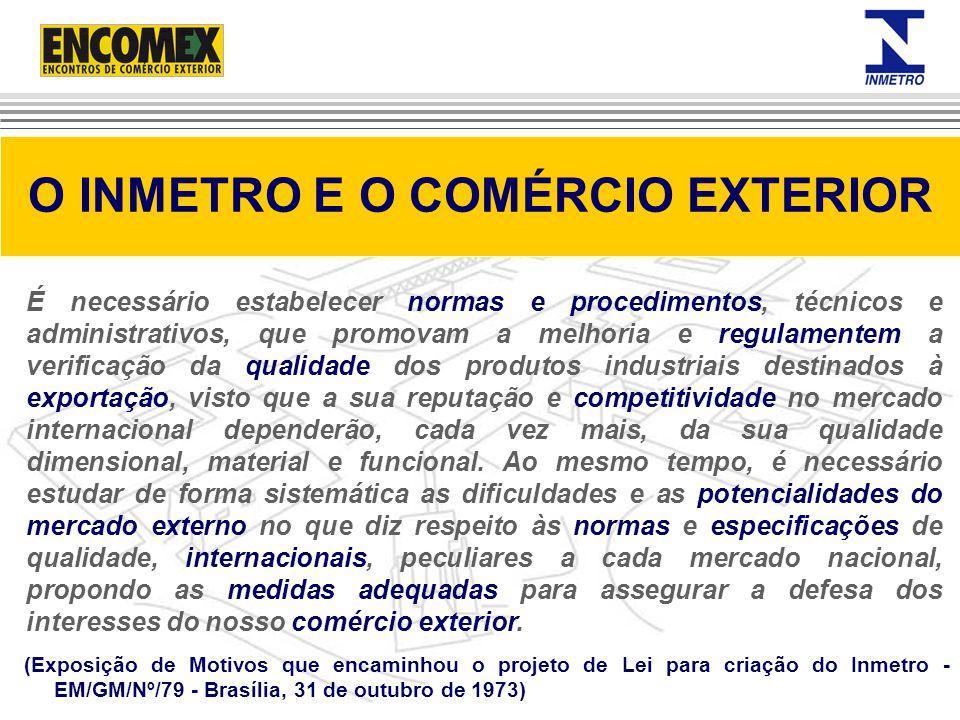 (Exposição de Motivos que encaminhou o projeto de Lei para criação do Inmetro - EM/GM/Nº/79 - Brasília, 31 de outubro de 1973) O INMETRO E O COMÉRCIO
