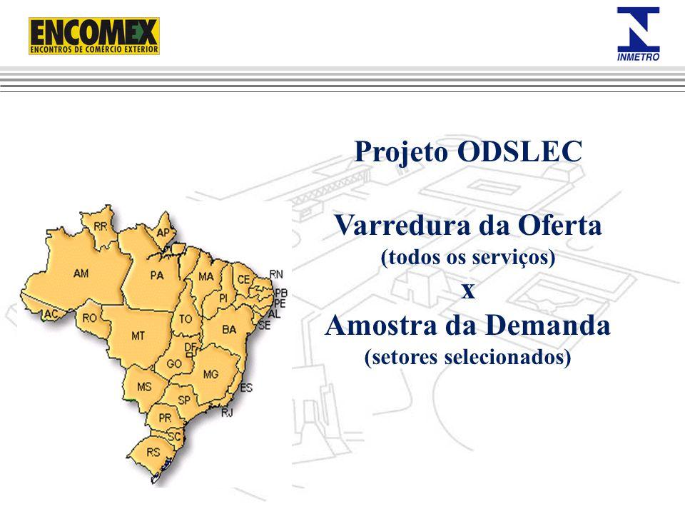 Projeto ODSLEC Varredura da Oferta (todos os serviços) x Amostra da Demanda (setores selecionados)