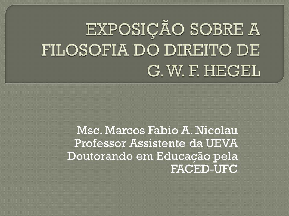 Msc. Marcos Fabio A. Nicolau Professor Assistente da UEVA Doutorando em Educação pela FACED-UFC