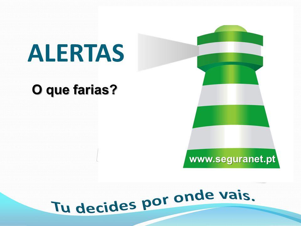 ALERTAS O que farias? www.seguranet.pt