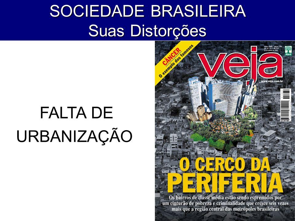 SOCIEDADE BRASILEIRA Suas Distorções FALTA DE URBANIZAÇÃO