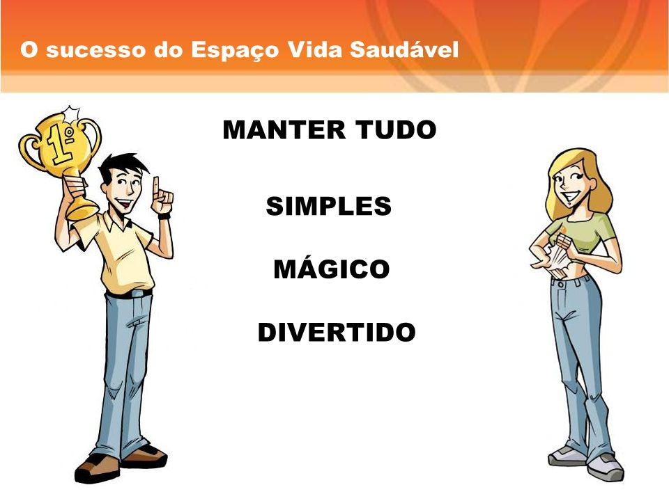 O sucesso do Espaço Vida Saudável MANTER TUDO SIMPLES DIVERTIDO MÁGICO