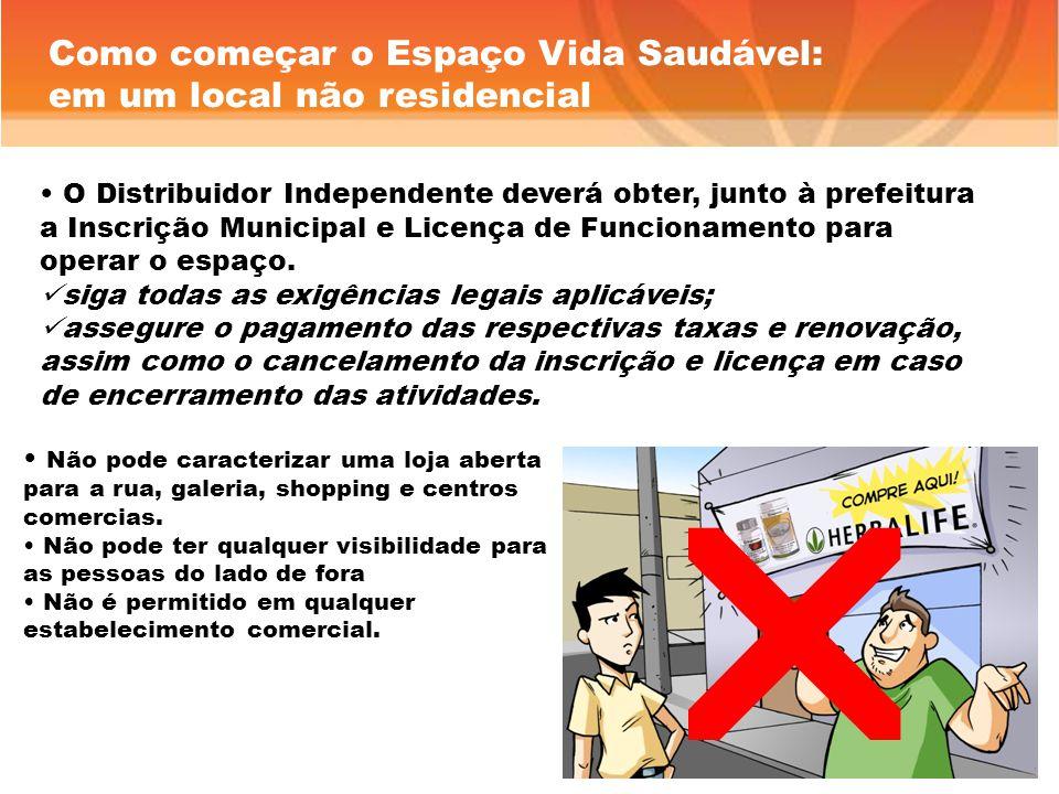 O Distribuidor Independente deverá obter, junto à prefeitura a Inscrição Municipal e Licença de Funcionamento para operar o espaço.